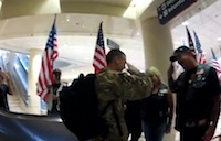 Patriot Guard Welcomes Troop Home