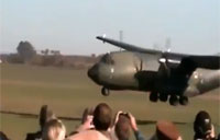 C-160 Touches Down a Tad Early!
