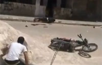 GRAPHIC: Syrian Sniper Victim Saved