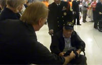 WWII Vets Cheered at Honor Flight