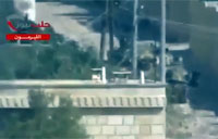 Syrian Army Tank Engaged in Aleppo