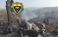 Downed Syrian Mig-23 Wreckage