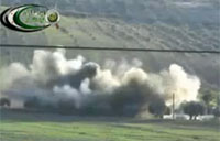 FSA Uses Munitions to Destroy Tank