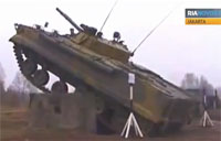BMP-3F Infantry Vehicle in Action