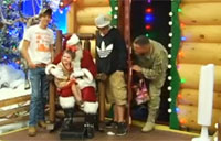 Santa Helps Soldier Surprise Kids