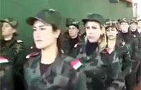 Assad Shows Off Female Soldiers