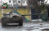 Captured Tank Engages SAA Hideout