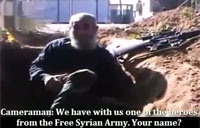 Interview with Front Line FSA Sniper