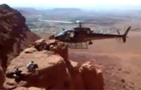 Helicopter Pilot 'Livin' on the Edge'