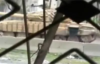 Close View of Attack on SAA Tank