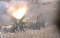 SAA Tank Turret Blown Away