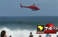 Rescue Chopper Plummets Into Ocean