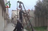 Syrian Rebels Build Medieval Weapon