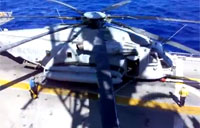Navy's Largest Single Rotor Helicopter