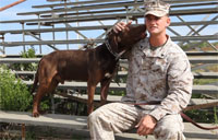A Marine and his Dog
