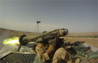 Javelin Missile Fired at Mortarmen