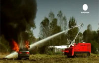 Unmanned Robot Fights Fires