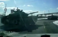Russian Tank in the Fast Lane!