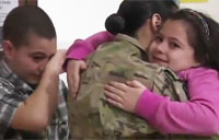 Female Soldier's Tearful Reunion