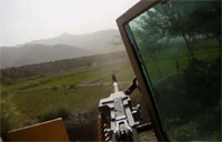 Taliban RPG Hits in Front of Convoy