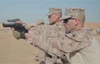 Marine Pistol Training in Helmand