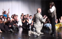 Airman Pulls Out All Stops for Proposal