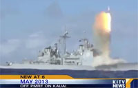 Navy Intercepts Missile Over Ocean