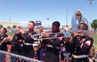 Marine Band Covers Bruno Mars!