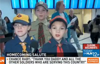 Scouts Light Up When Dad Appears