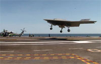 Great Angle of X-47B Touch and Go