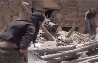 Syrian Rebel Survives Sniper Attack