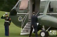 Obama Forgets to Salute Marine