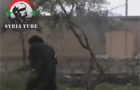 FSA Tank Explodes Close to Rebels