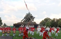 Marine Drum and Bugle at Iwo Jima
