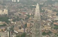 Rapelling the Shard for Royal Marines