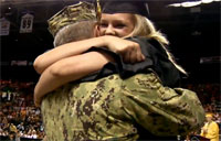 Sailor Makes Daughter's Graduation