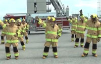 Firefighter Flash Mob 'Stayin' Alive'