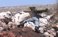 Syrian T-55 Hit by Concourse Missile