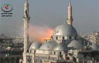 SAA Shell Slams Syrian Mosque