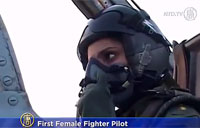 Female Fighter Pilot Combat Ready