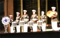 Marine Drum Corps Rocks the House