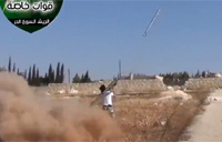 Syrian MiG Shot Down, Pilot Ejects