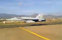 Unbelievable F/A-18 Ultra Low Pass