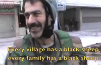 Syrian Army Soldier Confronts Militants