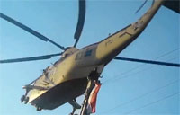 Helicopter Buzzes Protester in Egypt