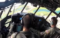 HC-130 Flight Over Oahu, Hawaii