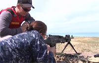 Sailors Fire Crew Served Weapons