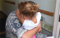 USAF Captain Surprises Daughter!