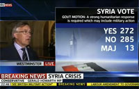 Britain Votes Against Action in Syria