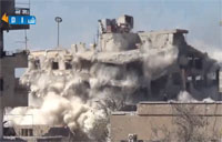 Syrian Arab Army Post Demolished